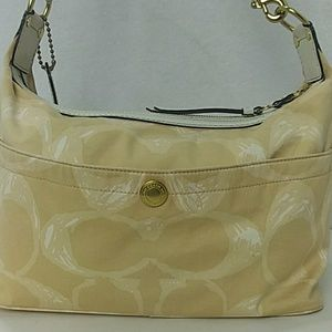 Coach Beige Signature Canvas Tote